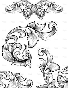 by a hand engraver. Ornate and intricate engraving designs. Intricate Flourish Set Royalty Free Stock Vector Art IllustrationAnd And or AND may refer to: Leather Carving, Wood Carving, Baroque Frame, Motifs Art Nouveau, Filigree Tattoo, Ornamental Tattoo, Muster Tattoos, Engraving Art, Carving Designs