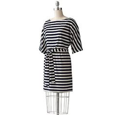 Jessica Howard Striped Dolman Dress