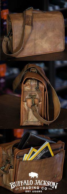 Everett Men's Vintage Leather Messenger Bag Backordered till 4/15/16