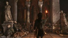 "A scene taken from the latest Rise of the Tomb Raider gameplay trailer.  Read my thoughts on ""Descent Into Legend"" here - http://archaeologyoftombraider.com/2015/09/22/thoughts-on-rise-of-the-tomb-raiders-descent-into-legend/"
