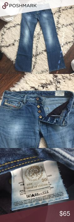 957f786f Diesel Zathan Bootcut Button Fly Jeans 30x32 Excellent condition Zathan  Bootcut jeans. Button fly.
