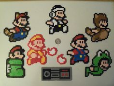All mario suits perler bead craft