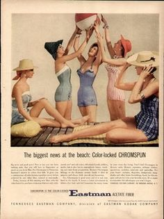 Glamoursplash: Vintage Beach Headgear