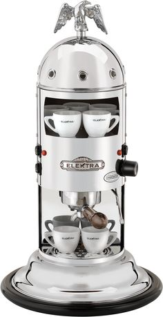 Vertical home espresso machine to use with ground coffee (we also provide an adapter kit for espresso machine). A real Italian espresso, contact Elektra now. Best Home Espresso Machine, Coffee Machine Best, Home Coffee Machines, Espresso Machine Reviews, Coffee Maker Reviews, Cappuccino Machine, Italian Espresso, Espresso Coffee, Best Coffee