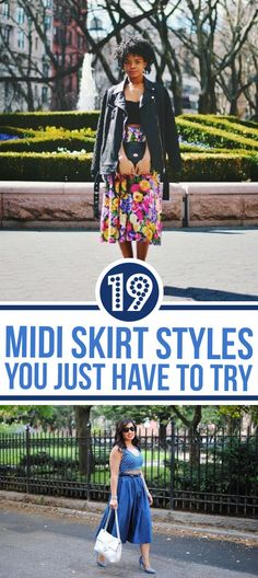 19 Midi Skirt Styles You Just Have To Try