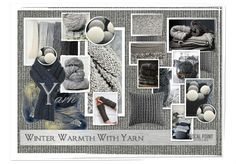 FOCAL POINT STYLING: MOODBOARD MONDAY: WINTER WARMTH WITH YARN