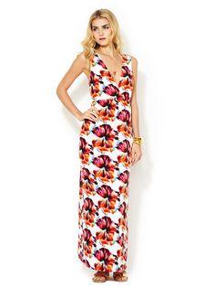 Manhattan Sleeveless V-Neck Maxi Dress by Marabelle at Gilt