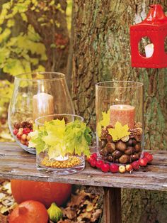 .Can use clear glass containers for any type of decoration.