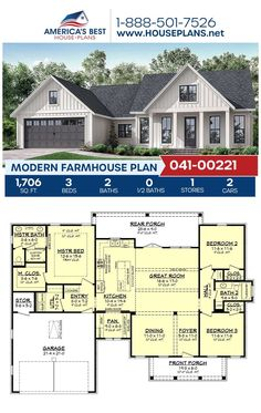 Basement House Plans, Family House Plans, Ranch House Plans, Best House Plans, Dream House Plans, Modern House Plans, Small House Plans, Dream Houses, Ranch Floor Plans