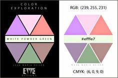 "Eva Maria Keiser Designs: Explore Color:  ""White Powder Green"""