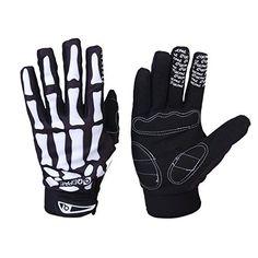 Bicycle Gloves Skeleton Pattern Full Finger Warm Bike Sports Gloves Black   White, http://www.amazon.com/dp/B00EH7WZDM/ref=cm_sw_r_pi_awdm_pjahwb1TPM7TK