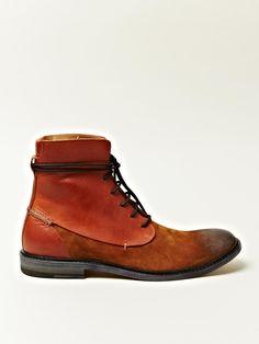 Maison Martin Margiela x Leather Lace-Up Trunk Boots
