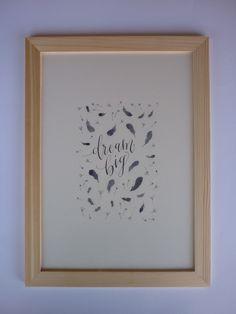 """Affiche calligraphie à imprimer, décoration murale """"Dream big"""" : Décorations murales par sophie-p"""