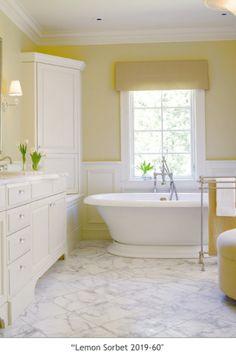 Benjamin Moore lemon sorbet bathroom