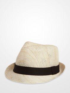 be8c1174f354 Black Hemp Trilby Hat