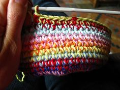 Bunny Mummy: Crochet Bowl Tutorial  This is surprisingly easy for those experienced crochet-ers