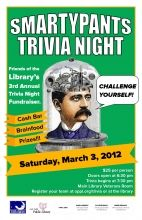 poster for Smartypants Trivia Night 2012