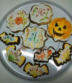 Prove biscotti ghiaccia reale dipinti