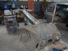 Morales ®: 14_fechamento túnel chassi raspagem pintura fusca restauração...