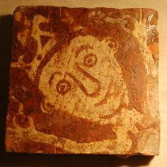 One object which makes us laugh is this Medieval floor tile. We know him as the Loopy King! From The Herbert Art Gallery, UK