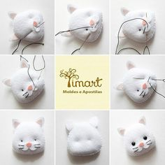 Best 11 PDF sewing pattern for Blank Cat Doll for crafting 37 inches - DIY tutorial- ready to print Diy Cat Toys, Sewing Toys, Sewing Crafts, Sewing Projects, Felt Projects, Felt Patterns, Stuffed Toys Patterns, Felt Cat, Cat Doll