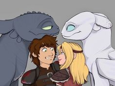 """duskblue-art: """"Collab with the talented @harleypig127 !! We both love httyd! She drew the dragons and i drew the humans  """""""