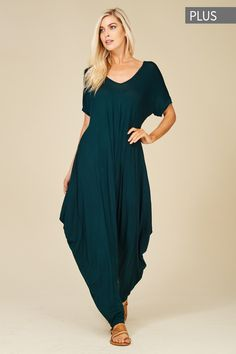 1f4e24e16685 Plus Size Roll Up Sleeve Jumpsuit