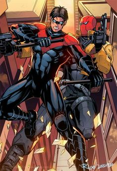 Nightwing and Red Hood. <3