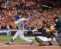 Kansas City Royals Alex Gordon shattered his bat for a double while scoring three runs against Baltimore Orioles at Friday's ALCS playoff baseball game on October 10, 2014 at Camden Yards in Baltimore, Md.