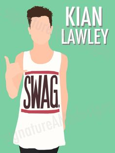 Minimalist Digital Artwork of YOUTUBER and O2L MEMBER - Kian Lawley. (11.7x16.5 inches/A3) by signatureAMSdesigns on Etsy