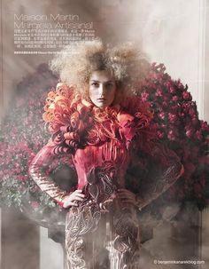 Photographed by Benjamin Kanarek featuring model Marlena Szoka for Harper's Bazaar China April 2011.