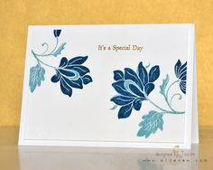 Persian Motifs, Altenew, embossed with white embossing powder, and then colored with water based markers.