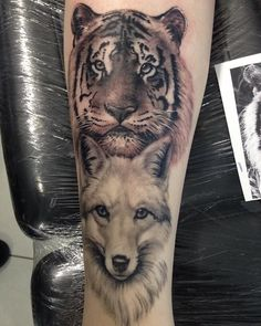Wolf tiger tattoo | André Tenório