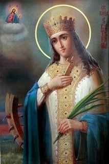 Aer duhovnicesc : Sfanta Mucenita Ecaterina minunat vorbind cu Domnul