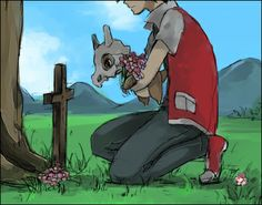 Cubone wears his mom's skull and feels sad. Cubone is my favorite pokemon because of this imagen going through this and the pain. When people look at this picture they should think about how lucky they are that there pain is not that bad .(in lease you have a sad life) We should think about how we force pokemon to battle for us even though some are more powerful then we are some things are sad but we can't help. So we sit there and think about how lucky we are-------Pinky Minecraft wrote…