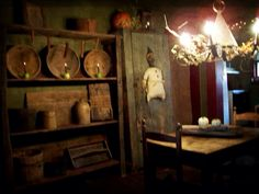 Halloween at Candy Looker's spooky ol' house on the hill. Primitive Fall, Kitchen Dining, Dining Rooms, Halloween 2016, Hallows Eve, Sweet Home, Candy, Autumn, Rustic