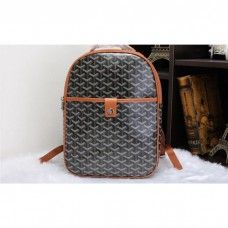 Goyard Backpack 8990 Black with Khaki
