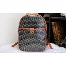 Goyard Backpack 8990 Black with Khaki
