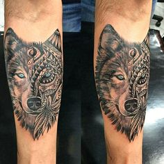 First Tattoo: Half Maori Wolf done by Alemão at Dark Art Tattoo Sao Paulo Brazil