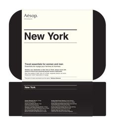 Aēsop / New York Travel Kit / Packaging / 2012