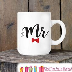 The Mr Coffee Cup  Couples Mugs  Cute Coffee by getthepartystarted