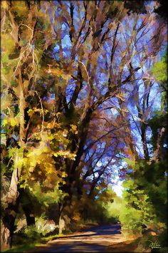Oak Landscape Painting by Douglas MooreZart - Oak Landscape Fine Art Prints and Posters for Sale