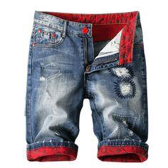 Baby Jeans, Denim Jeans Men, Jeans Pants, Ripped Denim, Denim Fashion, Male Fashion, Diy Shorts, Mode Chic, Denim Branding