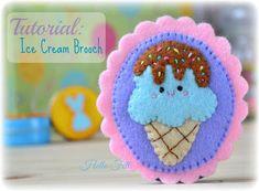 Hello Felt: Tutorial: Ice Cream Brooch
