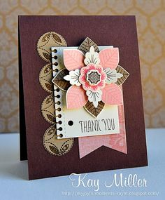 Lovely layers ; SU Banner framelits ; EK Sucess Spiral edge punch ; Any stamped circles that work