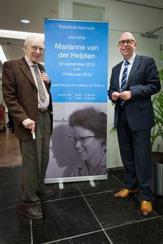 Gemeente Kerkrade | 01.10.13: Expositie Marianne van der Heijden Links: Broer van kunstenares Leo van der Heijden.  Rechts: wethouder Peter Thomas