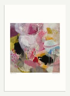 Mary and the circus - Print of an original abstract painting 6x6