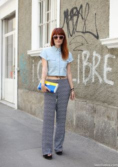 By Lee Oliveira (wearing Tory Burch pants and shades, Topshop shirt, L'Autre Chose wedges, Urania Gazelli bag)