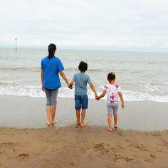 Lu's kids by the sea.