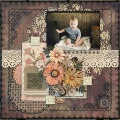 Lovely layout Evan on his blankie By: TracyChristine | 12-Oct-13